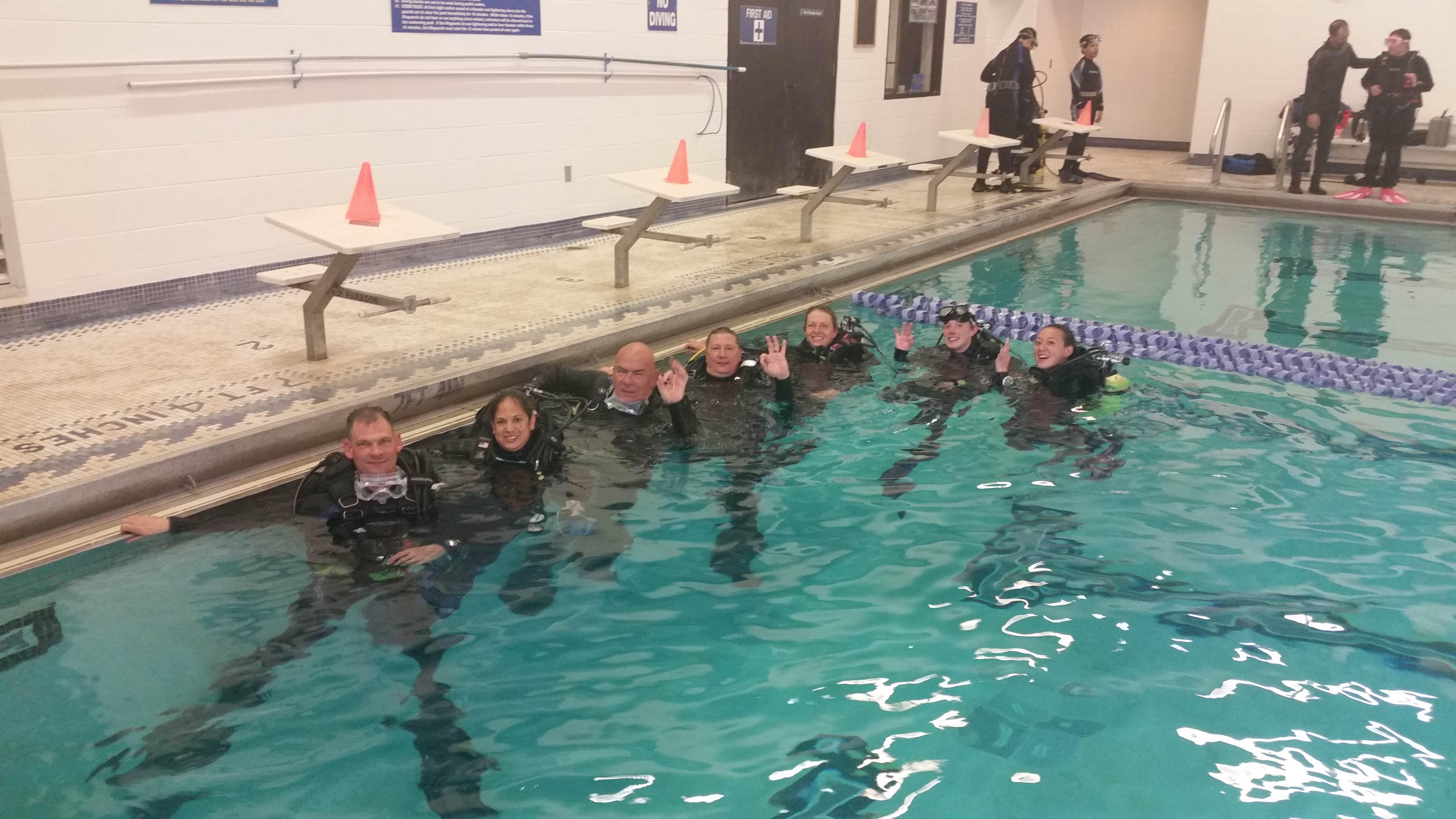 Confined water training class