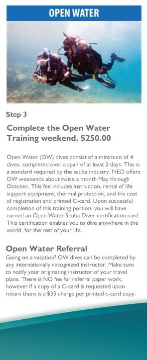 Step 3 Open Water Training
