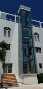 Dive Haven Glass Elevator